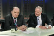 RTÉ Rugby panellists George Hook and Brent Pope