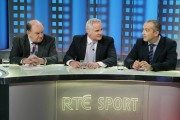 RTÉ Rugby panellists George Hook, Brent Pope and Conor O'Shea2011