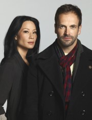 Lucy Liu and Jonny Lee Miller of ELEMENTARY