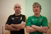 Hector goes GAA - Playing handball with DJ Carey