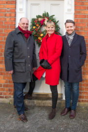 Christmas - Celebrity Home of the Year 2016 judges, design legend Hugh Wallace, acclaimed architect Declan O'Donnell and award winning interior designer Deirdre Whelan.