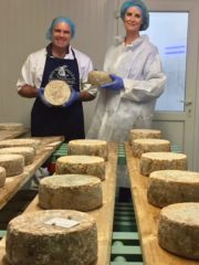 Ear to the Ground presenter Helen Carroll and cheese maker Michael Finnegan(prog eight, Thursday January 4th)