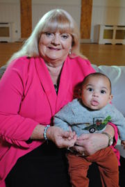 The Rotunda - Kay Cramp and grandson Baby Lar
