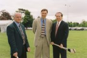 Launch of 'The Sunday Game' (1997) L-R Cyril Farrell, Tony Davis and Marty Morrissey The Sunday Game Image Ref. No. 2353/064
