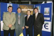 Launch of The Sunday Game (1997) l-R Ger Canning, Joe McDonagh (Uachtaran GAA), Marty Morrissey and Michael LysterThe Sunday Game Image Ref. No. 2353/071