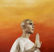 Anthony Roth Costanzo as Philip Glass's Akhnaten. Photo Paola Kudacki, Met Opera