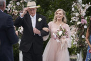 HOME AND AWAY EP 7280 Alf (R.MEAGHER) and Martha (B.GIBLIN) come down the aisle together as a married couple_HAA 1456_1177